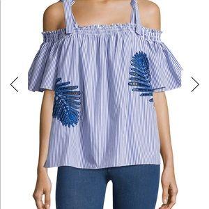 Cold shoulder swing shirt